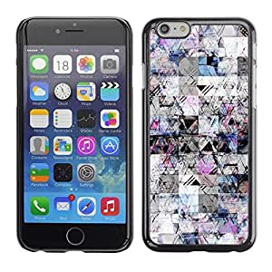 FECELL CITY // Duro Aluminio Pegatina PC Caso decorativo Funda Carcasa de Protección para Apple Iphone 6 Plus 5.5 // Sketch Lines Pen Ink Chaos Abstract