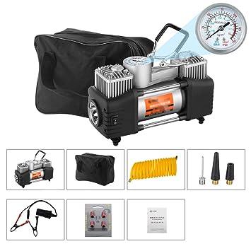 Compresor De Aire, Bomba De Neumático, Portátil 12V 150 PSI, Automático, Digital