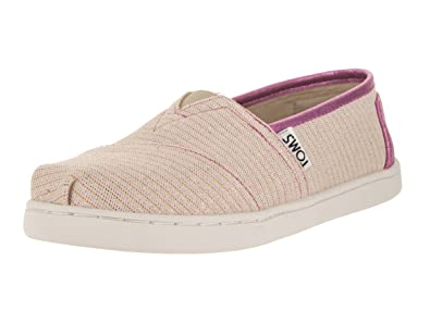 TOMS Kids Classic Pink/Glimmer Casual Shoe 4.5 Kids US