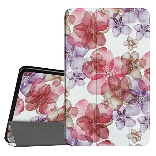 Fintie Slim Shell Case for Samsung Galaxy Tab A 10.1, Super Slim Lightweight Standing Cover with Auto Sleep/Wake Feature for Tab A 10.1 Inch (NO S Pen Version SM-T580/T585/T587) Tablet, Floral Purple