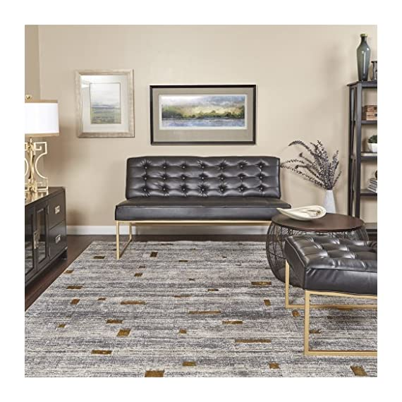 AVE SIX Anthony Loveseat with Tufted Faux Leather and Coated Gold Frame, Black - Easy care, faux Leather Button Tufted Attached Seat and Back Durable powder coated gold Finish - sofas-couches, living-room-furniture, living-room - 61GDtjaX7YL. SS570  -