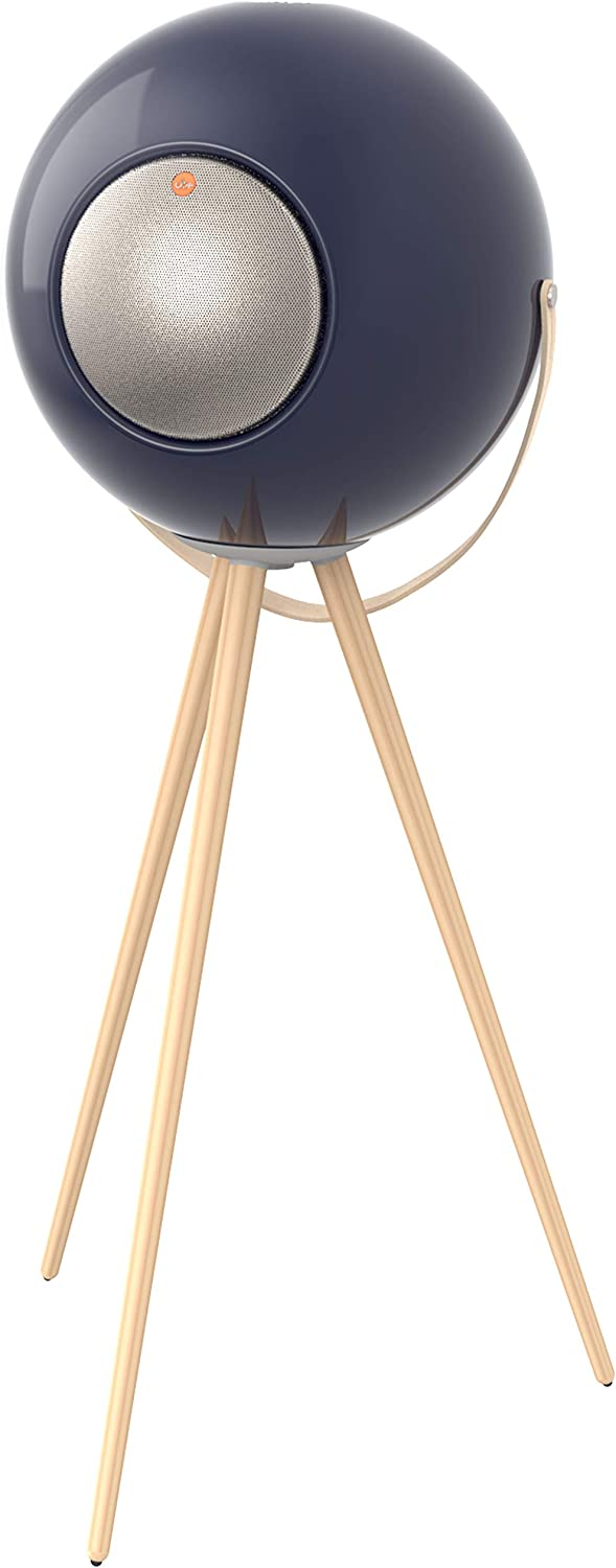 TGI EUPHO E3 Bluetooth Spherical Wireless Indoor/Outdoor Speaker (Navy) with Solid Wood Removable Legs