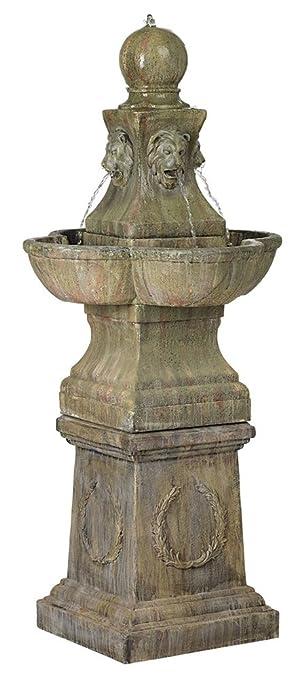 Amazoncom Tuscan Garden Pedestal 54quot High Outdoor Fountain