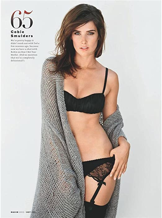 # Unique Gift # 72E2FF Cobie Smulders Poster by Silk Printing # Size About 35cm x 47cm, 14inch x 19inch