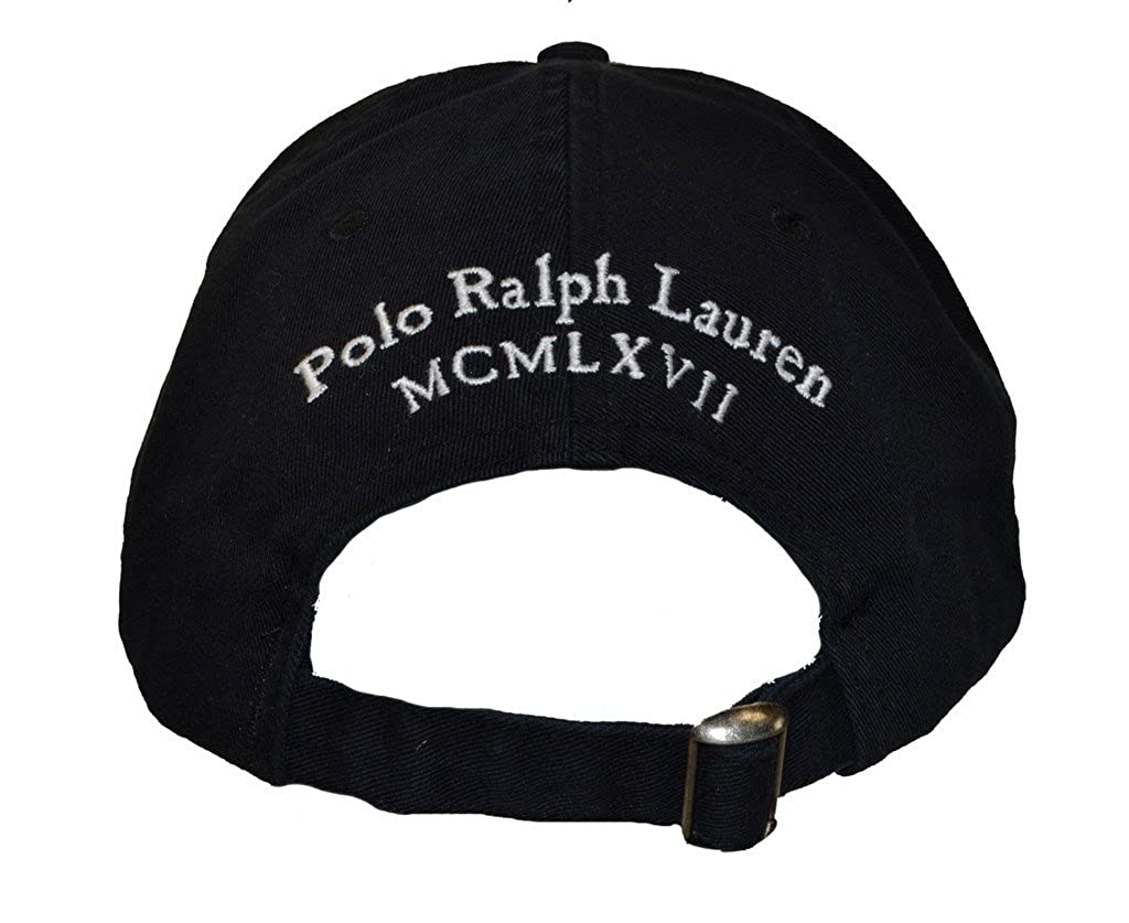 Amazon.com: Polo Ralph Lauren Unisex Big Pony Adjustable Hat Cap Black/White: Clothing
