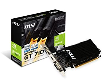 MSI GeForce GT 710 Passive Silent 2 GB Graphics Card - Black