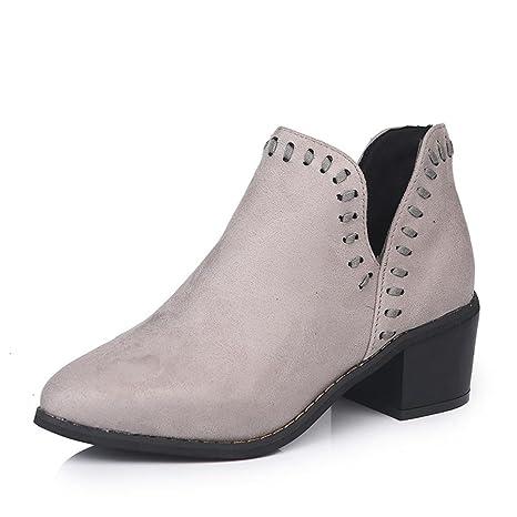 Mujer moda sandalia, Xinan Botines Vintage Martin Sandals Peep Toe talón cuña Casual confortable zapato