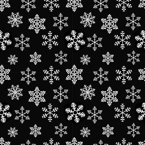 White Snowflake Enamel Decals for Glass -