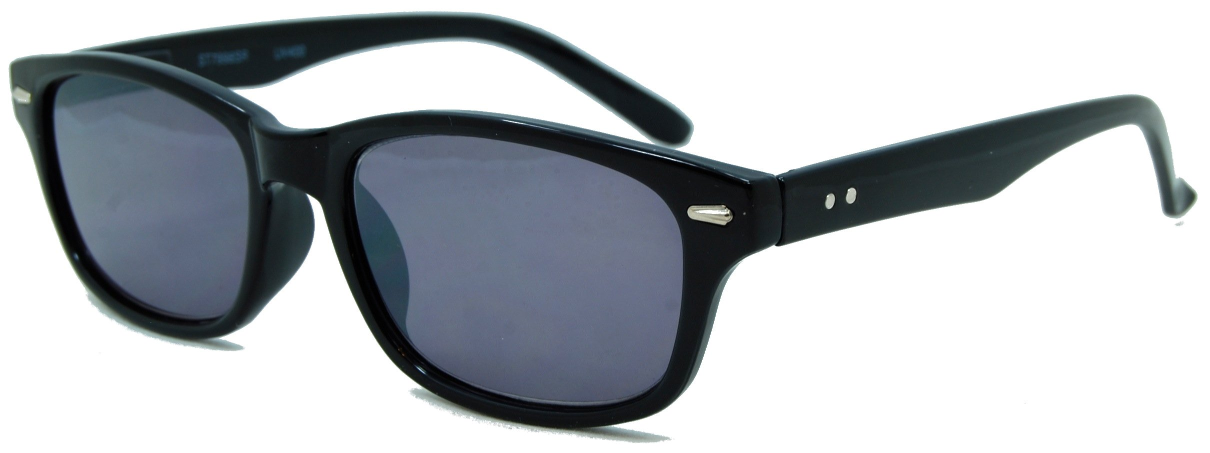 InSight, Classic Full Reader Sunglasses. Not BiFocals/Black/2.50 Strength by In Style Eyes