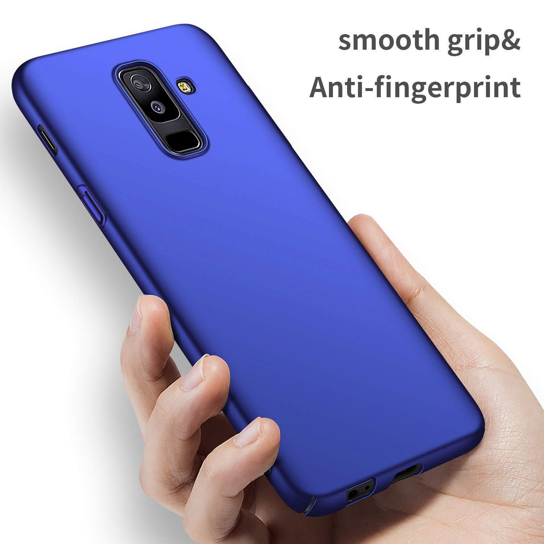 Felfy Rigida Custodia Compatibile con Samsung Galaxy A6 Plus 2018 Cover PC Rigida,Ultra Sottile Thin Slim Custodia Antiurto Anti-graffio Hard PC Case Protettiva in Plastica Rigida Cover Oro