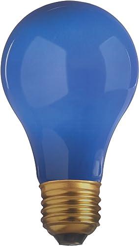 Satco S6092 25 Watt Light Bulb Opaque Blue A19 130 Volt 1 000 Life Hours Party Light Bulb Incandescent Bulbs