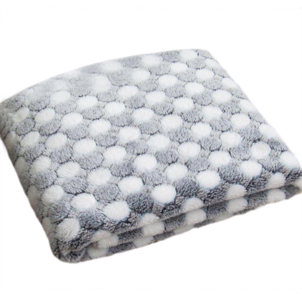 Emorias 1PC Couverture pour animal domestique Chien Chat en tissu polaire chaud Couverture souple lavable Couverture 104*76cm (Blanc)