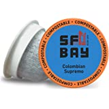 SF Bay Coffee Colombian Supremo 36 Ct Medium Roast Compostable Coffee Pods, K Cup Compatible Including Keurig 2.0 (Packaging May Vary)