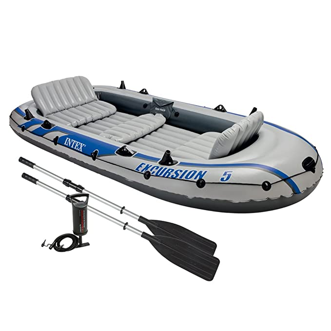 Intex Set de Barco Hinchable y 2 remos, 68325-Schlauchboot-Set Excursion 5