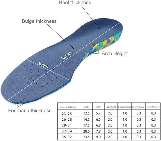 Hupoop - Almohadillas de apoyo para arco de pie plano para niños a ...
