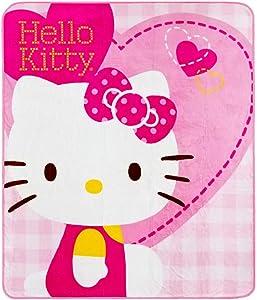 Hello Kitty Blanket Hearts New 50X60' Rachel Fleece Throw 70330