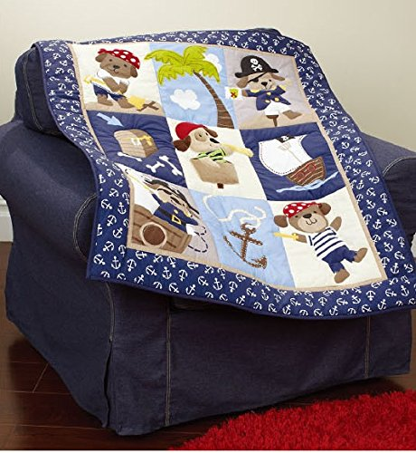 Pirates Of The Caribbean Comforters (Baby Neutral Caribbean Pirates Crib Bedding Set Crib Bedding Quilt)