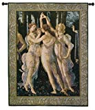 Fine Art Tapestries ''Primavera The Three Graces'' Wall Tapestry