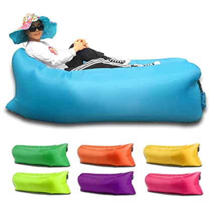 qmagic inflatable lounger air mattresses quick open hangout as lounge chair bean bag air hammock sofa amazon     qmagic inflatable lounger air mattresses quick open      rh   amazon
