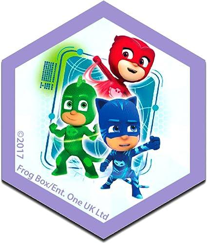PJ Masks Héroes en pijamas Grupo Disney - Parches termoadhesivos bordados aplique para ropa, tamaño: 6,2 x 7,3 cm