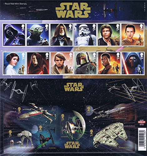 2015 Star Wars Stamps inc. M/S in Presentation Pack PP492 (no. 518) - Royal Mail Stamps by Royal Mail