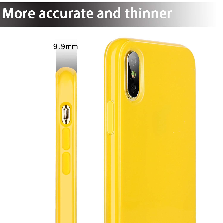 Carcasa para iPhone XS MAX Resistente a Golpes y ara/ñazos, Apta para iPhone XS MAX de 16,5 cm Color Amarillo Diwangs