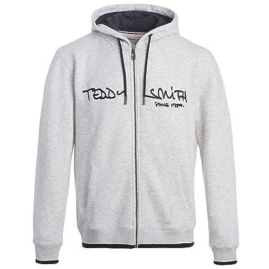 sélection premium paquet à la mode et attrayant nouveau concept Teddy Smith Giclass Sweat Zip Homme Gris: Amazon.fr ...