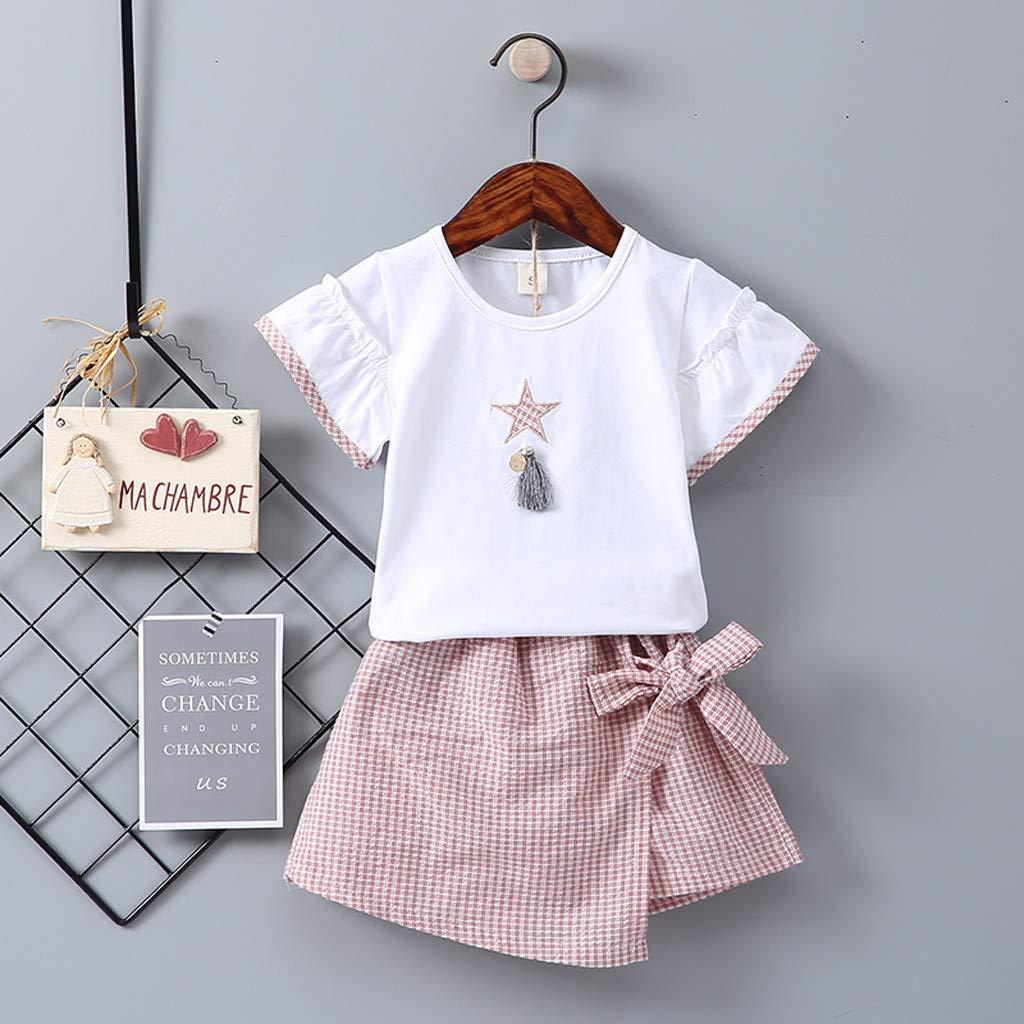 Amazon.com: Vestido para bebés y niñas, 2 piezas, camiseta ...