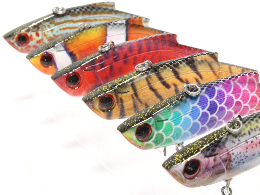 wLure 6 Lures per Pack Minnow Fishing Lures Lifelike 3 1//3 inch 1//4 oz HM515KB