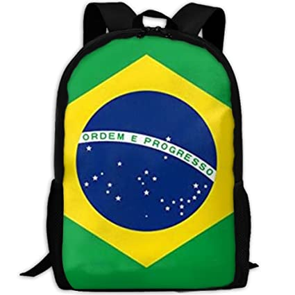 52e7e3ecbb5f Image Unavailable. Image not available for. Color  Brazil Polyester Flag  Interest Print Custom Unique Casual Backpack School Bag ...