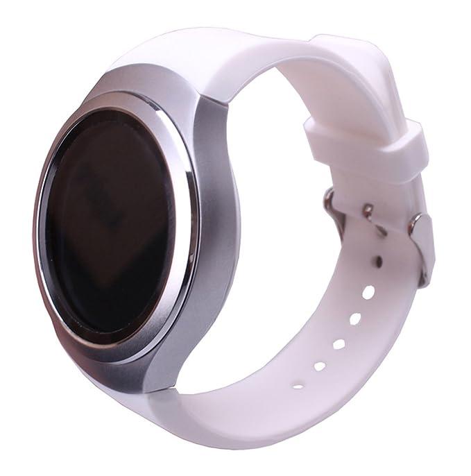 Sundaree Correa Gear S2 Sport,Ralmente Silicona Reemplazo Banda Pulseras de Repuesto Correa de Reloj Inteligente Smartwatch para Samsung Gear S2 Sport ...