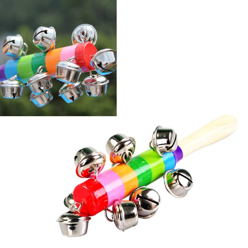 Sonagli di legno bambino Shaker della sabbia del martello giocattolo meraviglioso musicale 1pc strumenti giocattolo per i bambini colore casuale