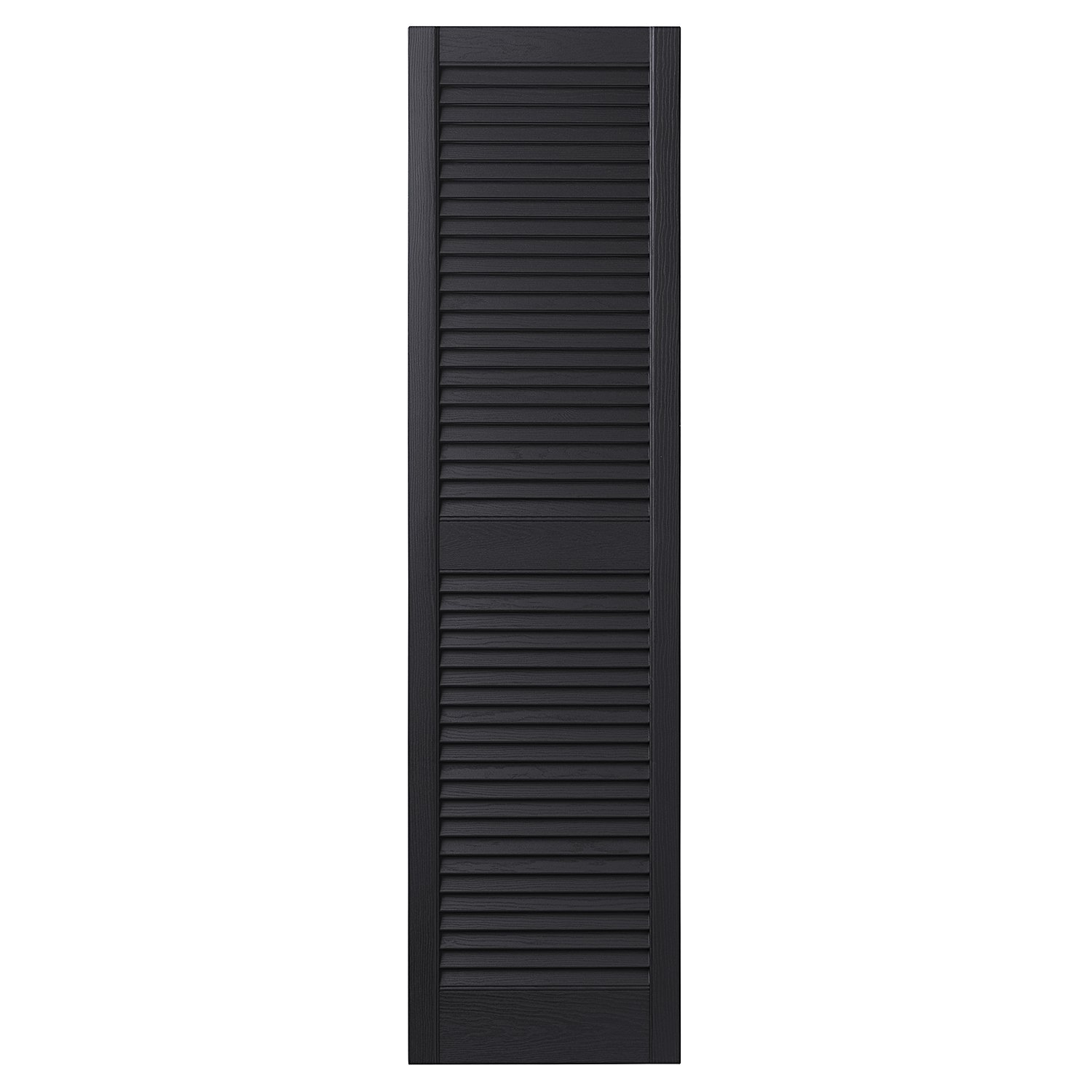 Ply Gem Shutters and Accents VINLV1547 33 Louvered Shutter, 15'', Black