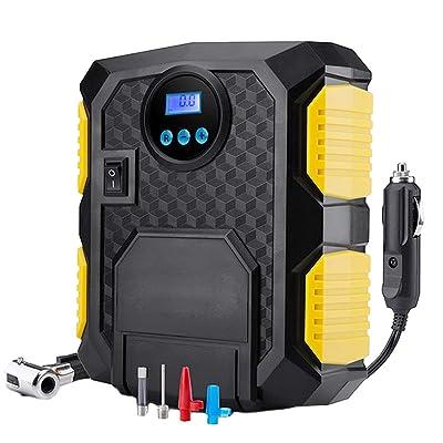 12V Voiture Automatique des pneus Pompe à air Affichage à l'écran LED numérique Roue de Voiture Portable Intelligent gonfleur Regard High-tech