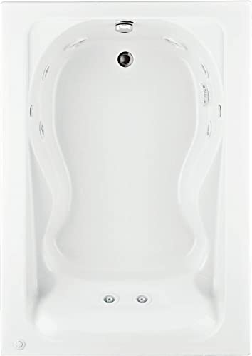 American Standard 2772018W.020 Cadet 5-Feet by 42-Inch Whirlpool with Hydro Massage System-I, White