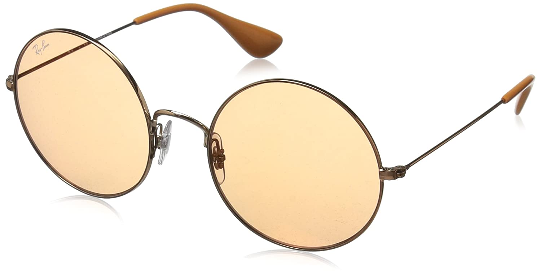 fe4be5b2a Amazon.com: Ray-Ban Women's Metal Non-Polarized Iridium Round Sunglasses  (RB3592), Shiny Copper, 55 mm: Ray-Ban: Clothing