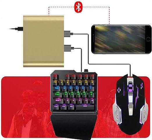 DBG Adaptador Combo de Teclado y ratón mecánico para el Juego de ...