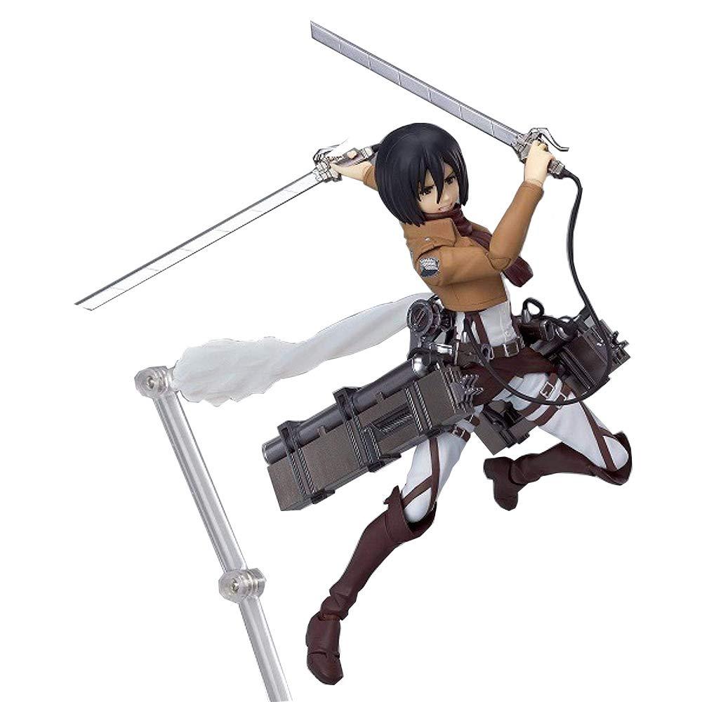 Attack On Titan Figure,Mikasa·Ackerman&Eren Jaeger&Levi Ackerman Figma Figure PVC Toys Collection Model Doll Gift Action Figure (Mikasa·Ackerman)