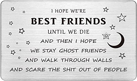 Fabulous Best Friends Wallet Card Insert Guy Friend Gifts Funny I Hope We Funny Birthday Cards Online Fluifree Goldxyz