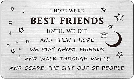 Pleasing Best Friends Wallet Card Insert Guy Friend Gifts Funny I Hope We Personalised Birthday Cards Beptaeletsinfo