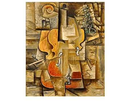 Amazon.com: Alonline Art - Violin And Grapes Pablo Picasso VINYL ...