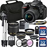 Nikon D5600 DX-format Digital SLR w/ AF-P DX NIKKOR 18-55mm f/3.5-5.6G VR + 64GB Memory Accessory Bundle – International Version