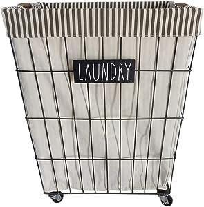 Rae Dunn Heavy Duty Laundry Hamper on Wheels - by Designstyles