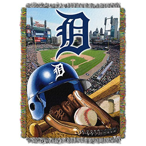 - The Northwest Company MLB Detroit Tigers Home Field Advantage Woven Tapestry Throw, 48