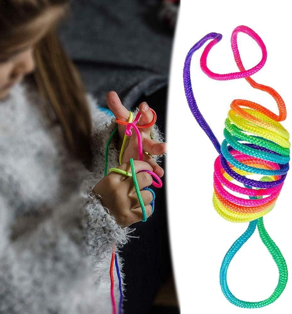 Zexa Corde De Doigt , Finger Twist String Game Jeu Arc en Ciel Corde Jeu De Main Fille Fille Gar/çon /Éducatif