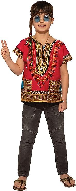 60s 70s Kids Costumes & Clothing Girls & Boys Kids Red Dashiki Shirt Costume $20.50 AT vintagedancer.com