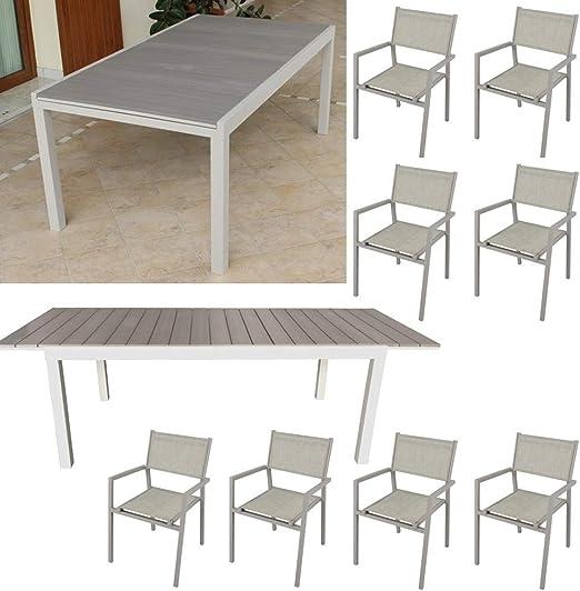 Tavolo Giardino Alluminio Allungabile.Milani Home S R L S Set Tavolo Giardino Rettangolare Allungabile