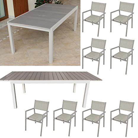 Tavoli Allungabili Da Esterno.Milani Home Set Tavolo Allungabile Da Giardino 180 240 X 100