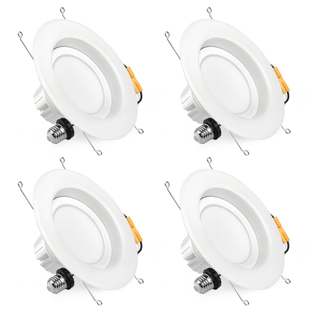 SGL 6 Inch Dimmable LED Downlight, 13W (100W Replacement), 5000K Daylight White, 1100 Lm, Retrofit LED Recessed Lighting Fixture, LED Ceiling Light, 4-Pack