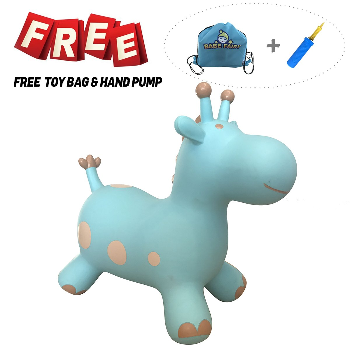 Babe Fairy Horse Hopper, Pump Included - Jumping Animal Plamates Toys